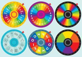 Vecteurs de roues à spirale colorés