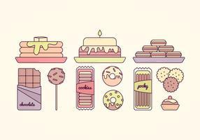 Illustration des bonbons vecteurs vecteur