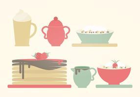 Illustration de petit-déjeuner vectoriel