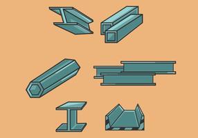 Vecteur d'illustration de faisceau d'acier
