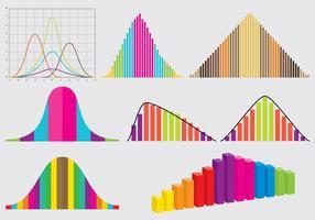 Vecteurs de courbes de cloche