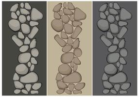 Vecteurs de chemin de pierre