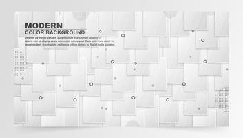 modèle de conception de bannière cube abstrait