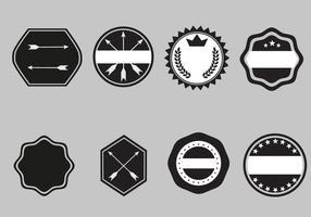 Modèles de badges gratuits Vector