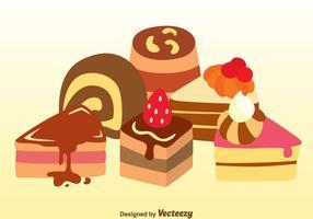 Vecteurs de gâteaux assortis vecteur