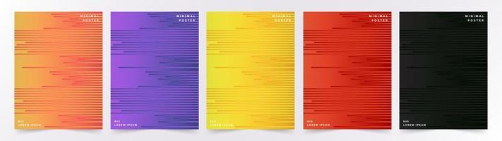 ensemble de milieux de lignes géométriques colorées