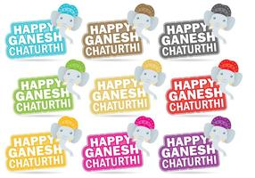 Titres Happy Ganesh Chaturthi vecteur