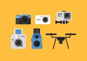 Caméra vectorielle vecteur