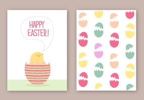 Vector de carte de Pâques gratuit