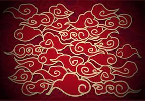 Vecteur d'illustration de fond de nuages chinois