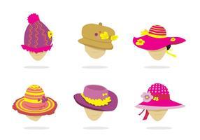 Vecteur isolé de chapeau de dames