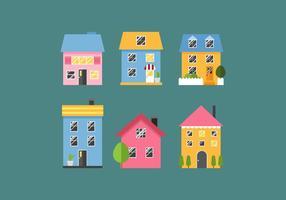Maisons de campagne vectorielles vecteur