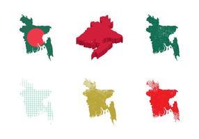 Illustration vectorielle gratuite de la carte du Bangladesh vecteur