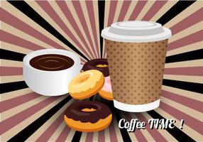 Vecteur libre du temps du café