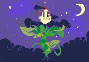 Le château des géants du conte de fées de haricots vecteur