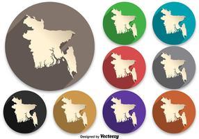 Icône de carte Vector Bangladesh