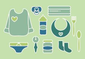 Accessoires bébé vecteur