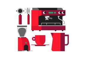 Machine à café vecteur