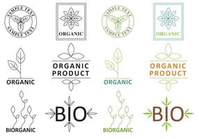 Logos végétaux biologiques vecteur
