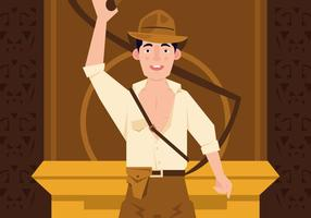 Action vectorielle indiana jones