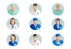 Vecteur d'avatar médecin gratuit