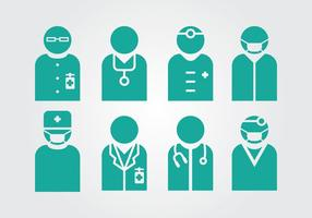 Médecins et infirmières Vecteurs vecteur