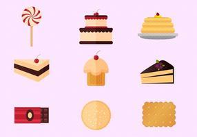 Ensemble vectoriel de crêpes et de gâteaux gratuits