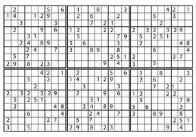 Vecteur sudoku gratuit