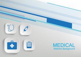 Vector de fond médical