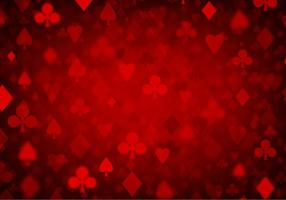 Fond de poker rouge Vector Free