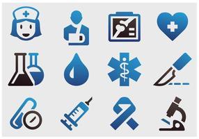 Vecteurs d'icônes d'instruments hospitaliers vecteur