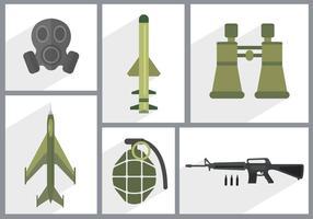 Icônes vectorielles de l'armée