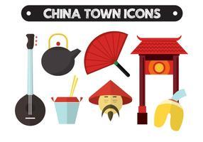 Icônes vectorielles chinoises vecteur