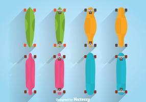 Vecteur Longboard coloré