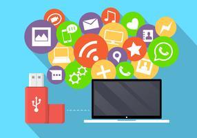 Icônes des médias sociaux vecteur