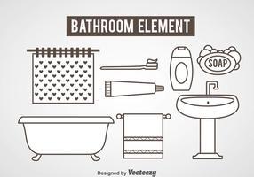 Vecteur d'icônes d'élément de salle de bains