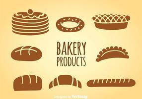 Ensembles vectoriels de produits de boulangerie vecteur