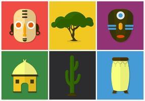 Fond d'écran d'icône africaine vecteur