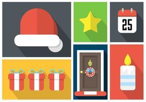 Éléments vectoriels de Noël