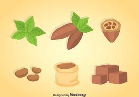 Ensembles de desserts au cacao vecteur