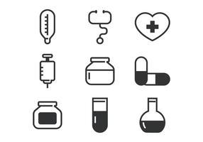 Medical Line Bold Icône vecteur