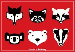 Ensembles vectoriels d'animaux forestiers vecteur