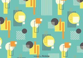 Fond de vecteur avec des formes rétro style Bauhaus