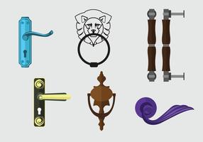Vecteur d'illustration d'équipement de porte