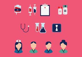 Icônes vectorielles médicales gratuites vecteur