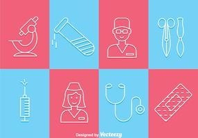 Icônes de contours médicaux