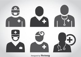 Vecteur d'icônes de docteur
