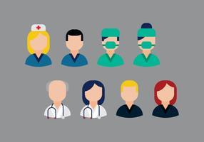Vecteur des professions médicales gratuites