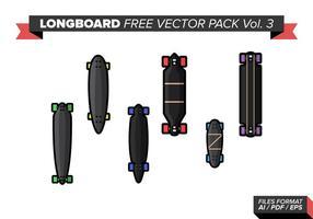 Pack de vecteur gratuit longboard vol. 3