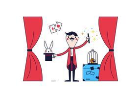 Vecteur magicien gratuit